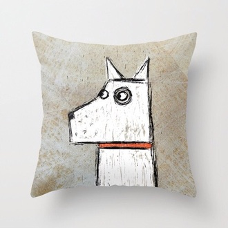 pillow home accessory home decor dog hipster