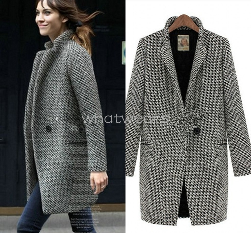 Sho Womens British Style Long Section Thick Jacket Coat Tops M6111 | eBay