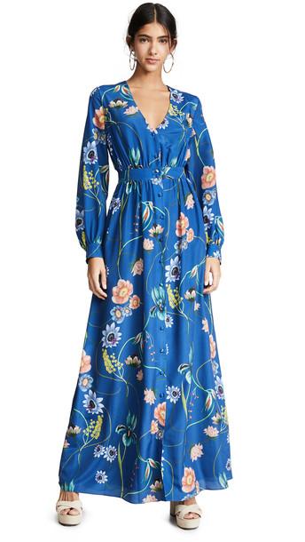 Borgo de Nor Francesca Dress in blue / multi