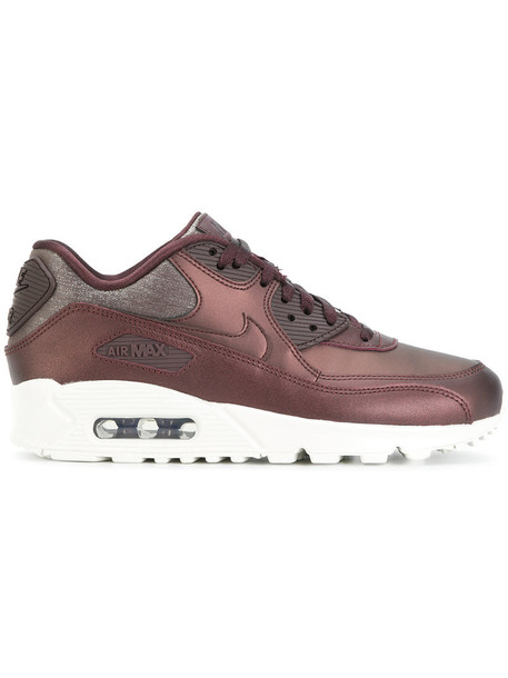 Nike women sneakers leather red shoes