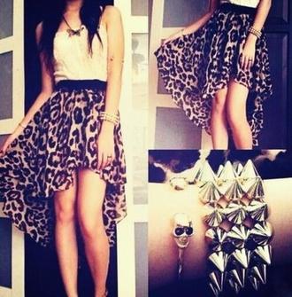 dress leopard print dress high low dress