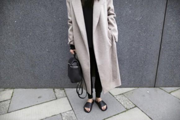 grey wool coat boyfriend coat