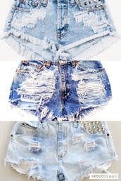 shorts,hight wasted denim shorts,denim shorts,ripped shorts,blue,denim,High waisted shorts,high waisted,light blue