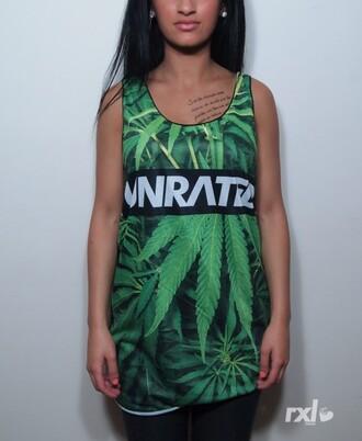 t-shirt canabis swag debardeur