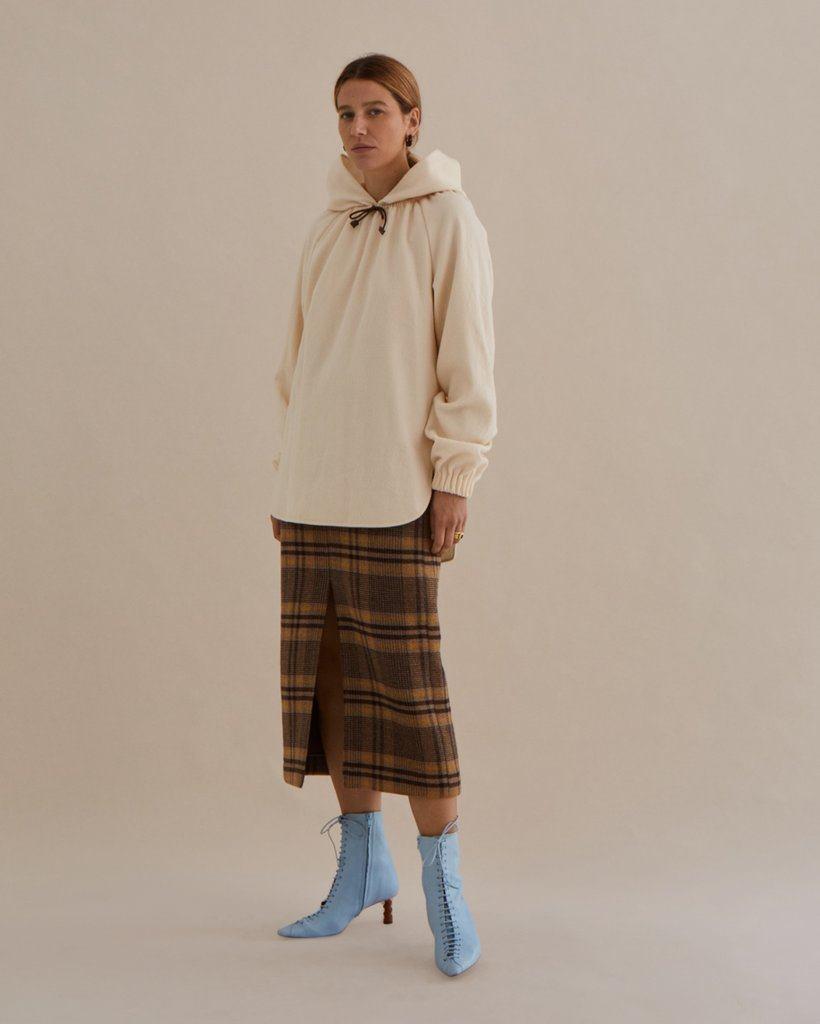 Erica Blouse Wool Ivory