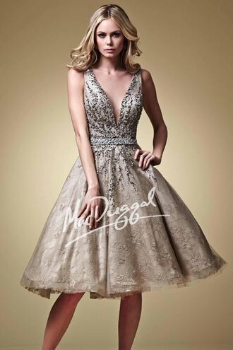 dress lace dress beaded short dresses grey prom dress tarik ediz dress