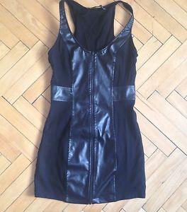 ZARA Bodycon dress PU faux leather size S | eBay