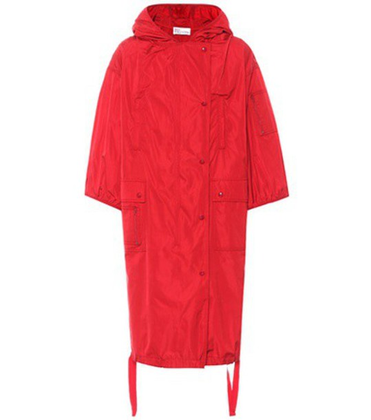 REDValentino jacket rain jacket cropped red