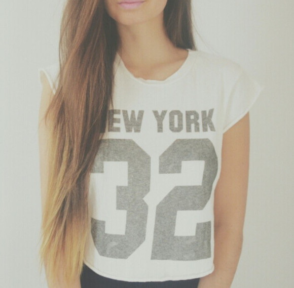 tank top clothes t-shirt new york urban tshirt t-shirts tshirts white white tank top grey t-shirt grey , new york 32