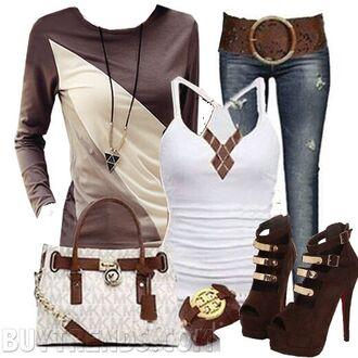 heels belt bag hair accessory