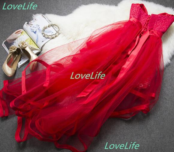 red dress red prom dress party dress prom dress sweetheart bustier dress