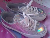 shoes,sneakers,holographic,hologram sneakers,holographic shoes