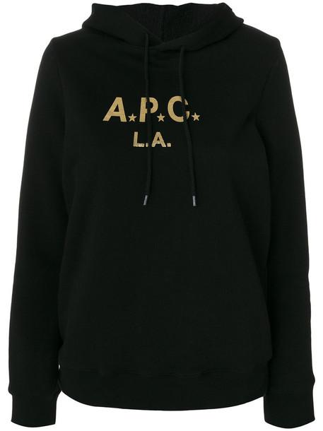 hoodie women drawstring cotton black sweater