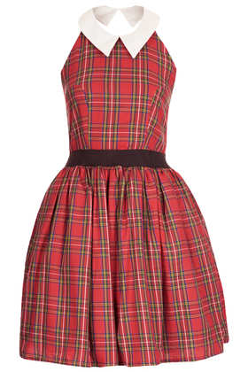 **Tartan Open Back Dress by Rare - Dresses  - Clothing  - Topshop