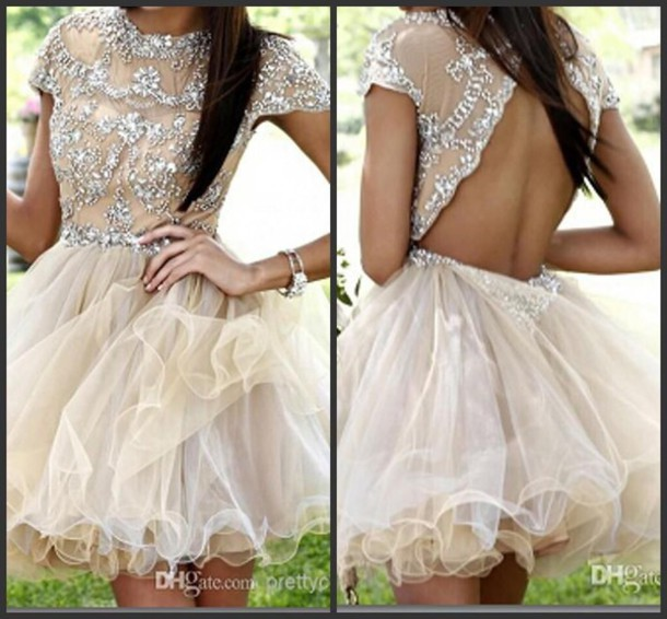 dress mini prom dress lipstick knife rhinestones sparkle 84943 homecoming dress homecoming 767675 1447662 champagne dress backless 1388014 jewels