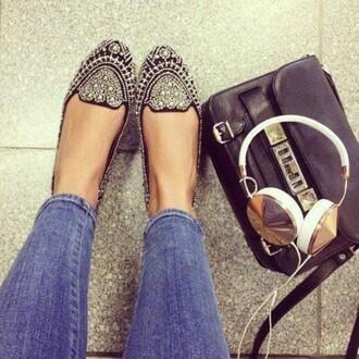 shoes bag earphones headphones sparkle