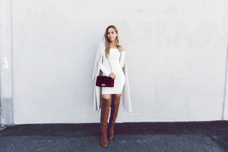 kenza blogger dress shoes bag coat