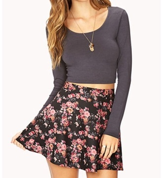 skirt flowers girly floral skirt
