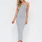 Daily essential ribbed tank dress black hgrey royal olive - gojane.com