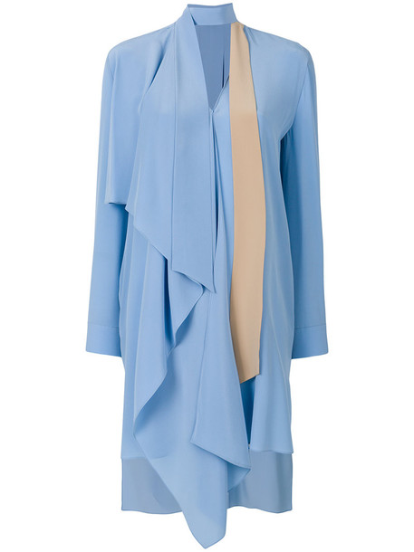 Fendi dress women plastic blue silk