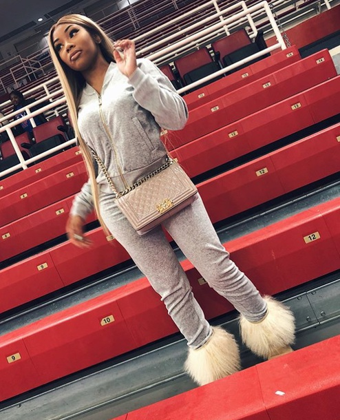 jumpsuit tracksuit grey fashion aaliyah jay winter outfits fall outfits sweater jacket sweatpants leggings