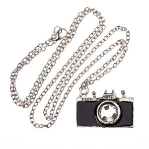 Amazon.com : vintage classic style silver chain fashion necklace black camera pendant