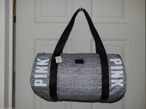 488e0ea405 bag duffle bag gym bag pink pink by victorias secret