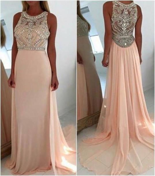 Dress Maxi Dress Pink Prom Dress Prom Prom Gown Prom