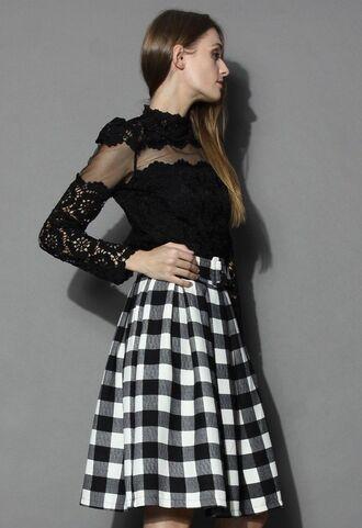 top www.ustrendy.com black mesh black top black lace black crochet lace long sleeves lined top
