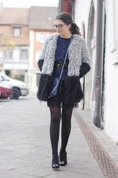 fashionhippieloves,blogger,jacket,bag,belt,fluffy,lace skirt,glasses