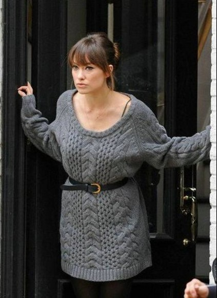 olivia wilde sweater grey grey sweater