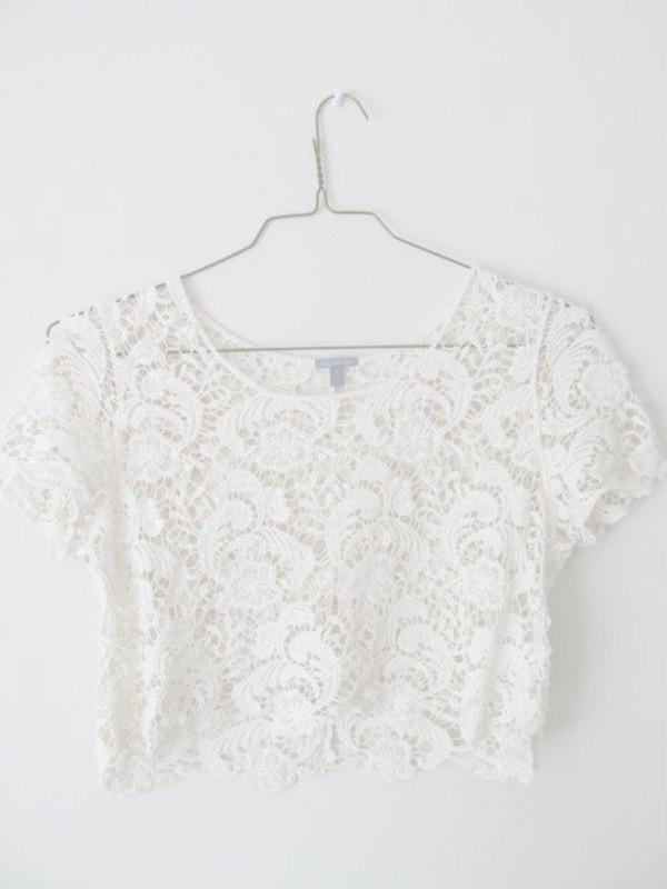 shirt crop tops white