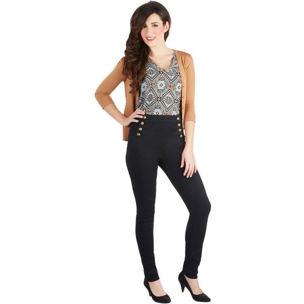 Set sailorette jeans in black