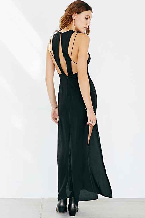 Keepsake countdown strappy cutout maxi dress