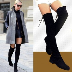 Shop Womens Tassel Over The Knee Thigh High Knight Boots Round toe ...