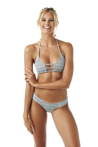 swimwear bikini top montce montce swim print sporty top bikiniluxe