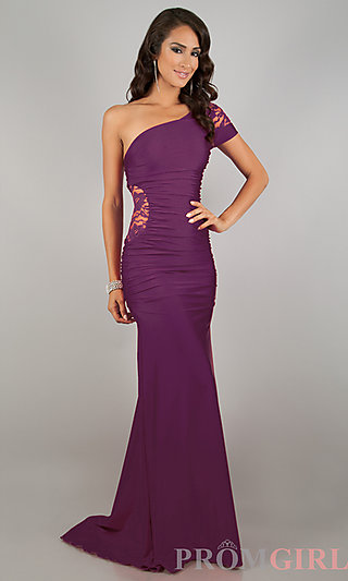 Atria One Shoulder Gowns, One Shoulder Prom Dresses- PromGirl