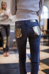 blue jeans,mirror,mirror rear pocket,jeans