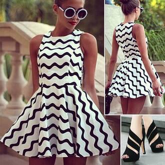 shoes outfit black shoes moda dress skater dress