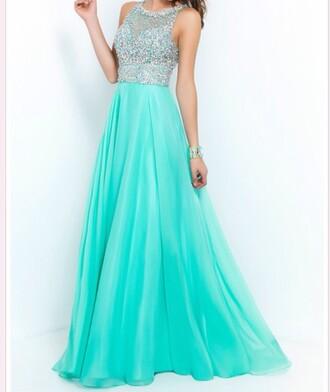 dress prom dress mint sage formal event outfit sparkly dress a line 2015 sparkle spring