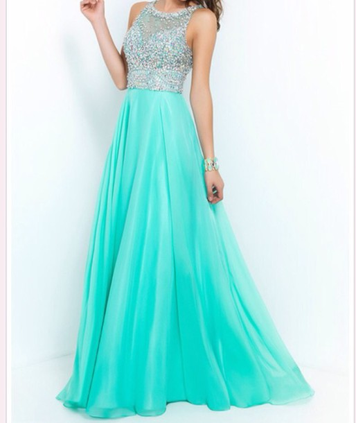 Dress Prom Dress Mint Sage Formal Event Outfit Sparkly Dress