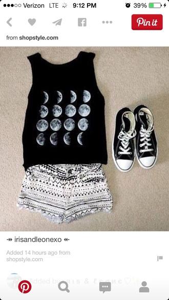 shirt tank top black top hipster cool