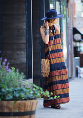 the marcy stop,blogger,dress,jewels,hat,shoes