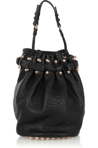 Alexander Wang | Diego textured-leather shoulder bag | NET-A-PORTER.COM