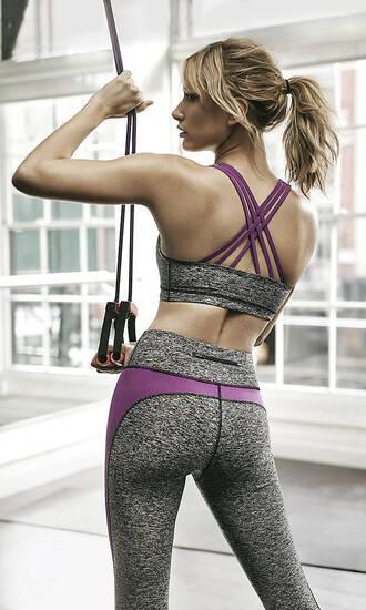 leggings sportswear hailey baldwin crop tops sports bra workout workout leggings criss cross back