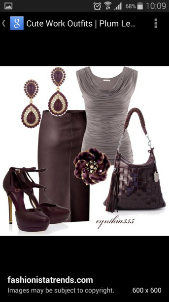blouse outfit bag boots jewelry earrings