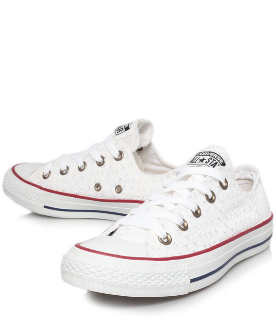 Converse White Eyelet Print Chuck Taylor Trainers | Women's Trainers | Liberty.co.uk