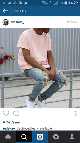 sweater kanye west menswear urban pastel pink