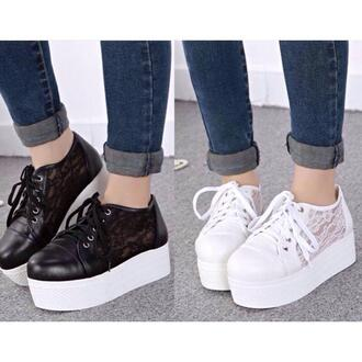 shoes lace platform sneakers want these! platform shoes