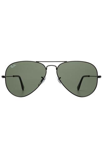 metal classic sunglasses aviator sunglasses black